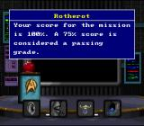 Star Trek: Starfleet Academy - Starship Bridge Simulator SNES Graded on each mission, the final grade is the result of several different actions during the mission