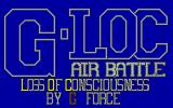G-Loc: Air Battle Atari ST Title screen