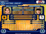 NHL 2000 Windows The new pre-match screen, where you can set the initial lines, jerseys, boosts and other options