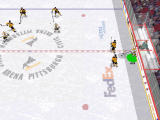 NHL 2000 Windows Jagr pulls a move on two Bruins defenders (software mode)