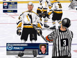 NHL 2000 Windows Barnaby gives a sarcastic glimpse at the referee (software mode)