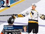 NHL 2000 Windows Hrdina surprised with the referee getting him (software mode)