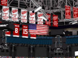 NHL 2000 Windows The rafter flags match the titles of the teams