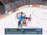 "NHL 2000 Windows Hitting someone with the elbow (a ""big hit"") and knocking his helmet away won't win you any friends (software mode)"