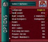 FIFA Soccer 96 SNES Game Options