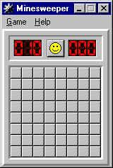 Minesweeper Windows Beginner Level - small field