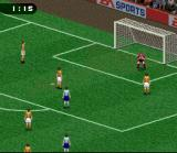 FIFA Soccer 96 SNES The goalie just made a save