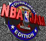 NBA Jam Tournament Edition Game Gear Title Screen.