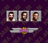 NBA Jam Tournament Edition Game Gear Here are the Lakers' players available.