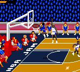 NBA Jam Tournament Edition Game Gear Here comes a dunk.