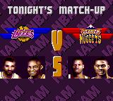 NBA Jam Tournament Edition Game Gear And tonight we'll have Lakers vs. Nuggets.