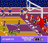 NBA Jam Tournament Edition Game Gear Lakers' first two points.