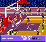 NBA Jam Tournament Edition Game Gear Goal tending.