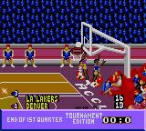 NBA Jam Tournament Edition Game Gear End of 1st quarter.