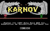 Karnov DOS Title screen