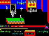 Grumpy Gumphrey Supersleuth ZX Spectrum You can't swing from the chandelier, which is a shame