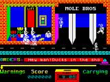 Grumpy Gumphrey Supersleuth ZX Spectrum are the Mole brothers Monty and Adrian?