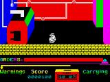 Grumpy Gumphrey Supersleuth ZX Spectrum The boiler room - remember where this is, you may need it later