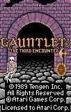Gauntlet: The Third Encounter Lynx Title screen