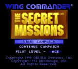 Wing Commander: The Secret Missions SNES Title screen / main menu