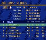 Brett Hull Hockey 95 SNES Edit team lines