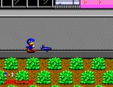 Dynamite Düx SEGA Master System After using a bazooka, you get an even more powerful weapon, a water gun!