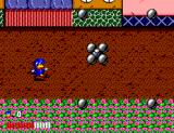 Dynamite Düx SEGA Master System Your third boss, something like a bunch of bowling balls.