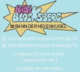 Bibi Blocksberg: Im Bann der Hexenkugel Game Boy Color Title screen