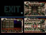 Hired Guns Amiga One player has reached the exit, now for the rest