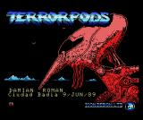 Terrorpods MSX Loading screen