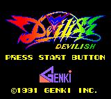 Devilish Game Gear Japanese title screen