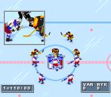 NHL 95 SNES The game begins