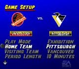 NHL 95 SNES Choose the teams