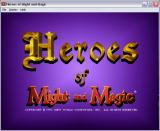 Heroes of Might and Magic Windows Title screen