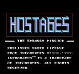 Hostage: Rescue Mission NES Japanese title screen
