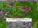 Transport Tycoon DOS The train arrives at its destination!