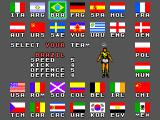 World Championship Soccer SEGA Master System Select your team.