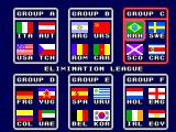 World Championship Soccer SEGA Master System Team groups.