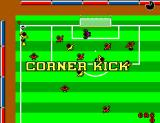 World Championship Soccer SEGA Master System Brazil goes for a corner kick.