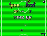 World Championship Soccer SEGA Master System Time up, Brazil wins.