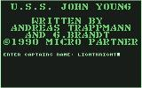 Battle Stations Commodore 64 Enter captains name