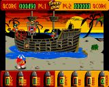 Tommy Gun Amiga Battle against pirate parrots.