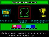 The Cycles: International Grand Prix Racing ZX Spectrum Main menu