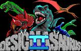 Designasaurus II DOS Title screen