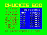 Chuckie Egg Dragon 32/64 Title screen