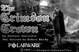 The Crimson Crown Macintosh Original Black & White Title screen.