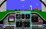 Chuck Yeager's Advanced Flight Trainer 2.0 DOS lined up for takeoff - EGA 320x200