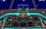 Chuck Yeager's Advanced Flight Trainer 2.0 DOS taking off for a night mission - EGA 320x200