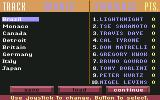 Grand Prix Circuit Commodore 64 Track winners / Standings