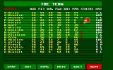 Cricket Captain Atari ST Squad details